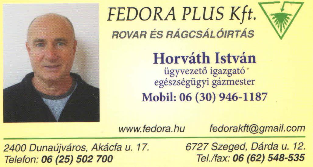 Rovarirtás, Rágcsálóirtás - FEDORA-EXTRA Kft.