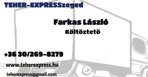Költöztetés Szeged - Teher-Express